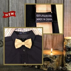 Other - Gold Adjustable Bow Tie
